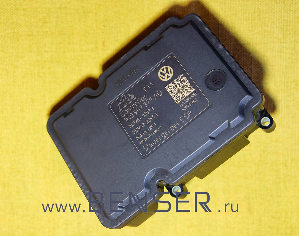 Блок ABS ESP, Skoda Octavia Superb, Audi A3, Golf 1k0907379AD 1K0614517BE 1K0907379AE. Ремонт